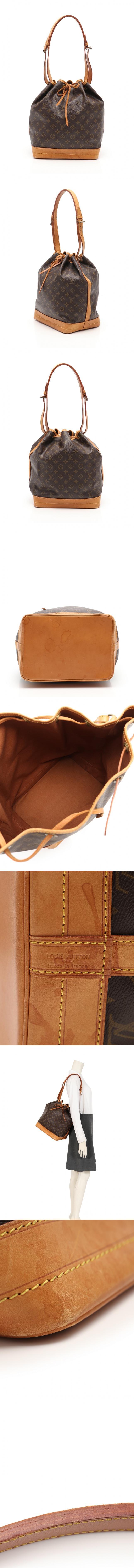 ショルダーバッグ ノエ モノグラム 茶 M42224 PVC レザー
