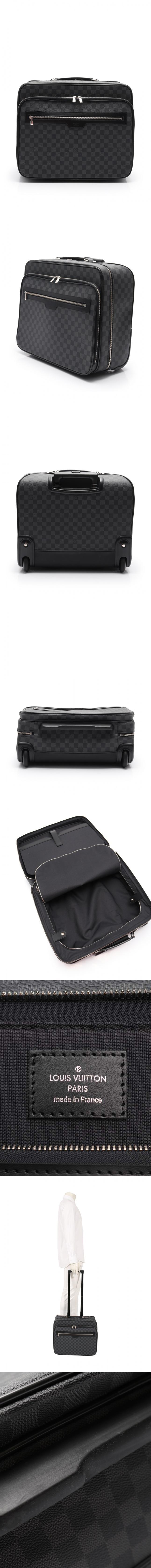 バッグ パイロットケース ダミエグラフィット 黒 N23206 PVC レザー