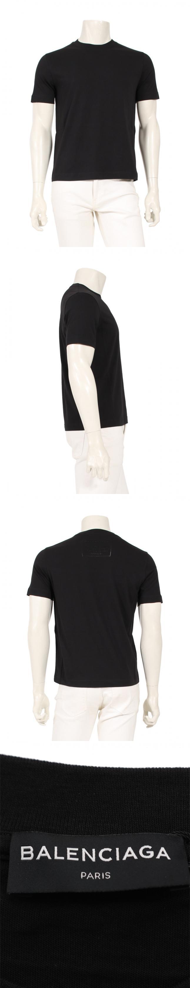 カットソー Tシャツ 黒 S トップス 半袖 496053 コットン