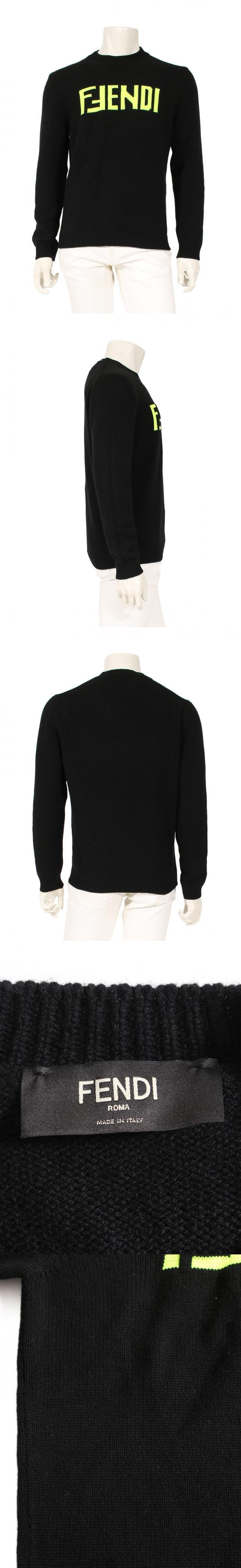 ニット セーター 黒 黄 50 トップス 長袖 L FZZ469 カシミヤ