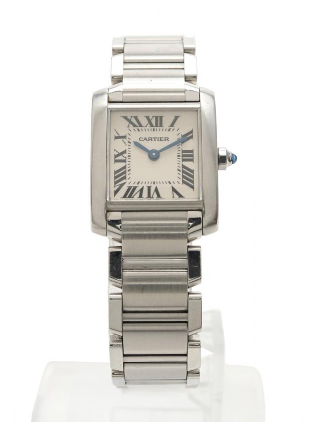 competitive price 8ec07 11aed カルティエ Cartier 腕時計 タンクフランセーズSM レディース シルバー W51008Q3 SS 白文字盤 レディース
