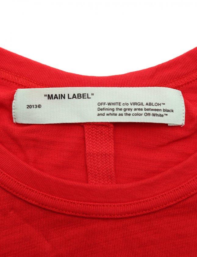 オフホワイト OFF WHITE カットソー モナリザプリント Tシャツ 赤 黒 M トップス 半袖 プリント OMAA002S180010122010 コットン MONALISA オーバーサイズ メンズ