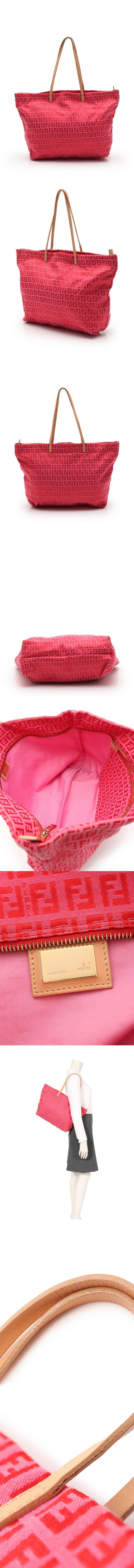 トートバッグ ズッキーノ ピンク 赤 8BH025 キャンバス レザー