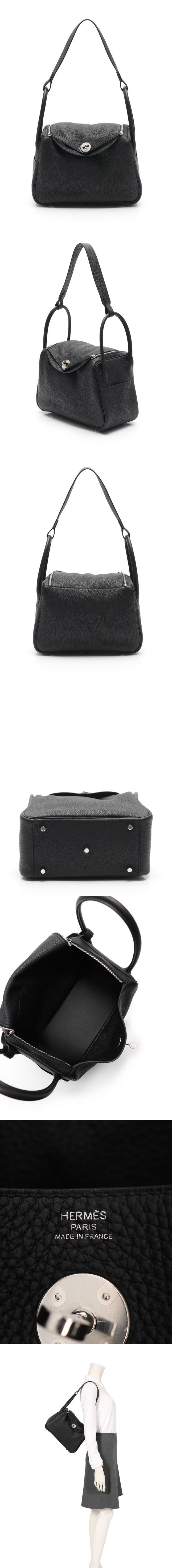 ショルダーバッグ リンディ26 ブラック トリヨンクレマンス C刻印 シルバー金具