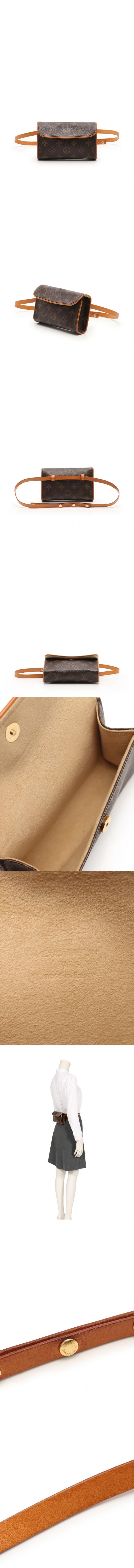 ボディバッグ ウエストポーチ ポシェットフロランティーヌ モノグラム 茶 M51855 PVC レザー
