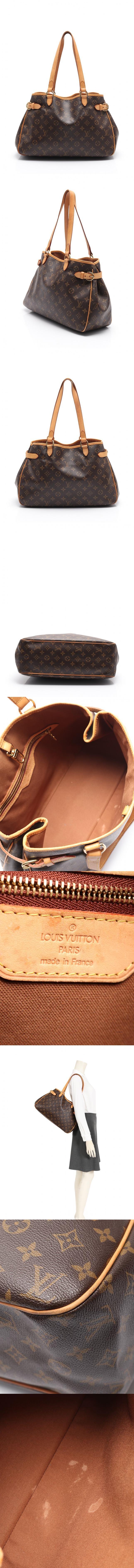 ショルダーバッグ バティニョール オリゾンタル モノグラム 茶 M51154 PVC レザー
