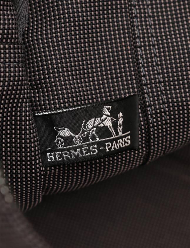 エルメス HERMES トートバッグ エールラインGM グレー ナイロンキャンバス メンズ レディース