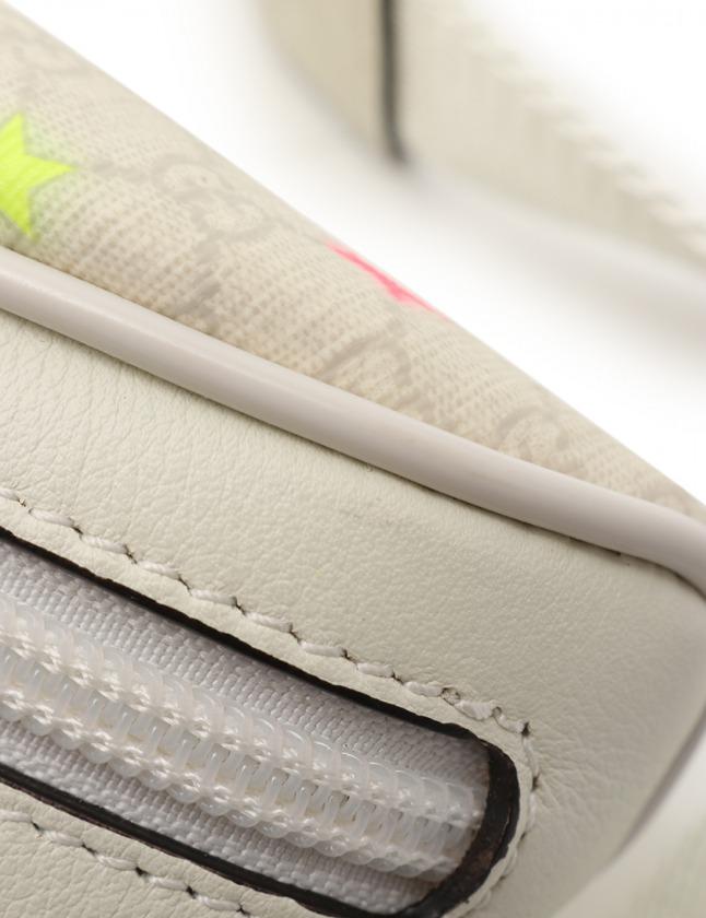 グッチ GUCCI ボディバッグ ウエストポーチ チルドレンズ マイクロGG 白 マルチカラー 311159 PVC レザー スター キッズ キッズ