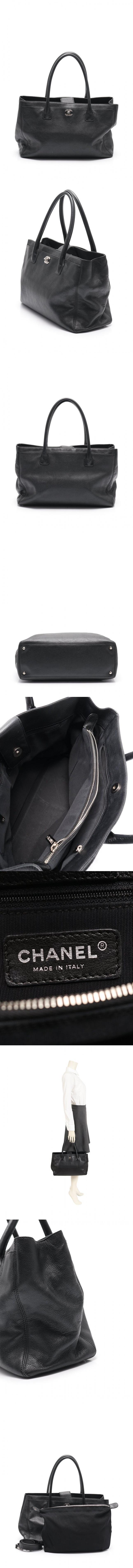 トートバッグ ショルダーバッグ エグゼクティブ ココマーク 黒 A15206 レザー 2WAY シルバー金具