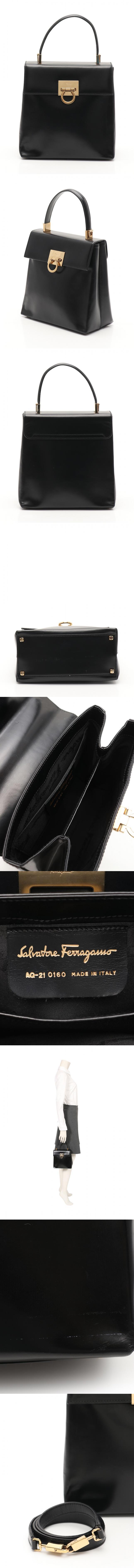 ハンドバッグ ショルダーバッグ ガンチーニ 黒 21 0160 エナメルレザー 2WAY