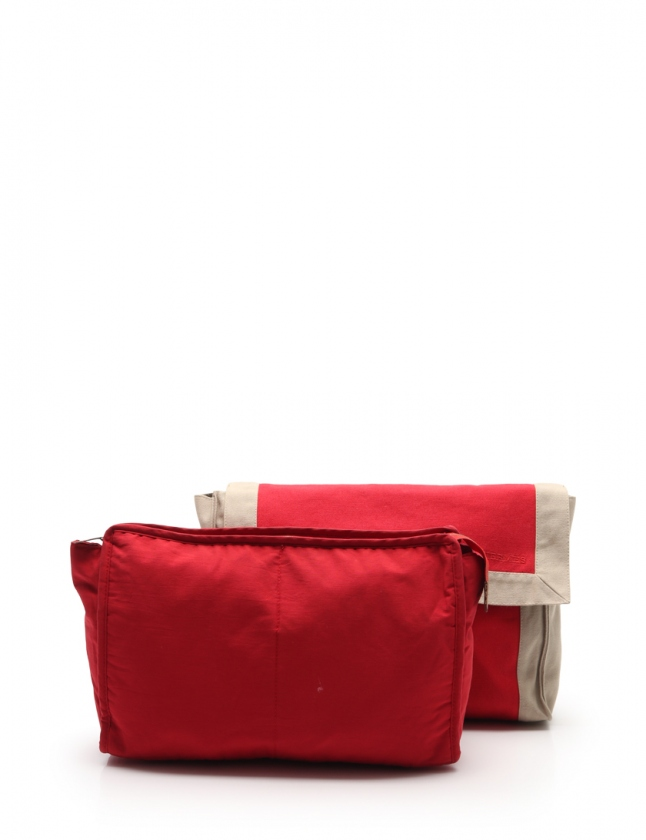 エルメス HERMES クラッチバッグ タピドセル トラベルケース 赤 グレー キャンバス メンズ レディース