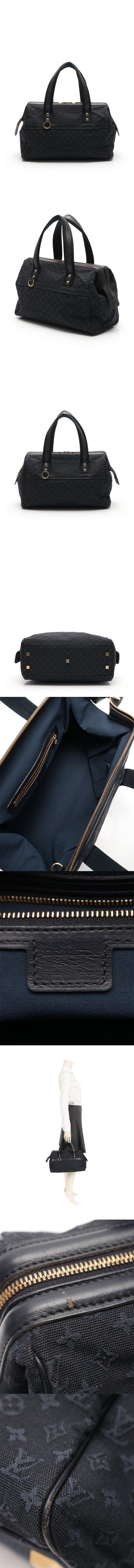ハンドバッグ ジョセフィーヌGM モノグラムミニ TSTブルー M92411 キャンバス レザー
