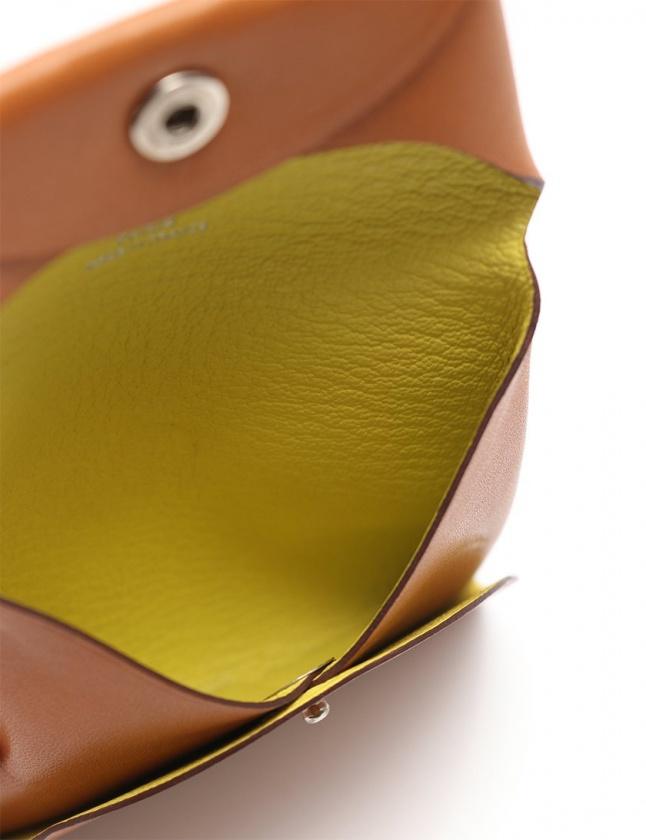 エルメス HERMES コインケース 財布 バスティア ナチュラル 小物 ヴァッシュナチュラル □Q刻印 レディース