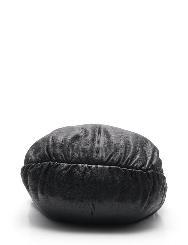 グッチ GUCCI ショルダーバッグ バンブー ホーボー 黒 232930 レザー レディース