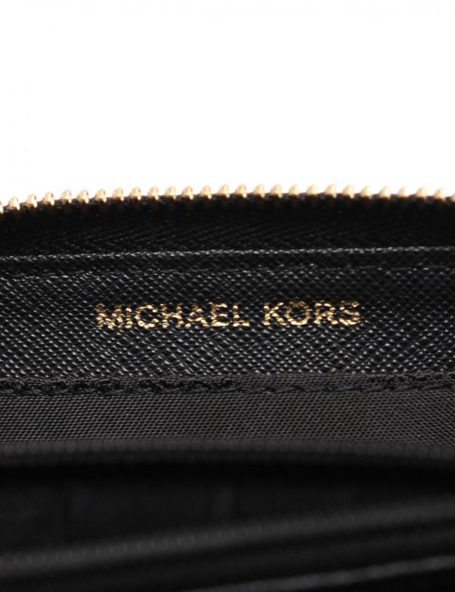 マイケルコース MICHAEL KORS ラウンドファスナーコインケース カードケース マーサー 黒 小物 レザー 32T8GF6Z1L MERCER  レディース