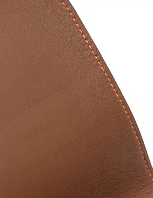 エルメス HERMES 二つ折り長財布 ドゴンロング アルザン オレンジ 小物 トゴ 061200CK シルバー金具 □N刻印 レディース