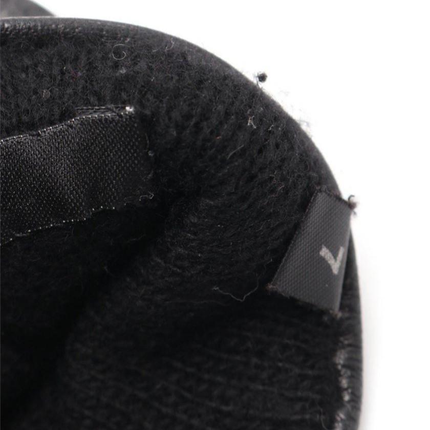 グッチ GUCCI 手袋 グローブ 黒 小物 レザー レディース