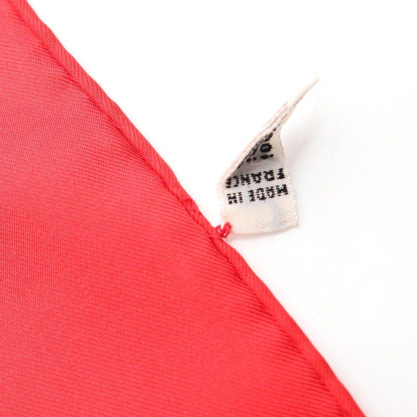 セリーヌ CELINE スカーフ スクエア 赤 紫 緑 ゴールド 小物 総柄 シルク レディース