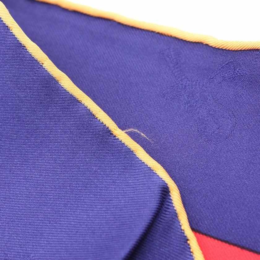 エルメス HERMES スカーフ スクエア カレ90 青 マルチカラー 小物 総柄 シルク ベニスのカーニバル LE CARNAVAL DE VENISE レディース