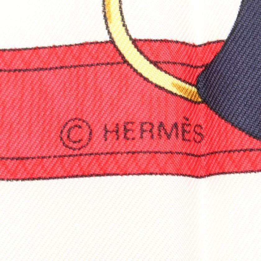 エルメス HERMES スカーフ スクエア カレ90 ネイビー マルチカラー 小物 シルク 黄金の拍車 Eperon d'or レディース