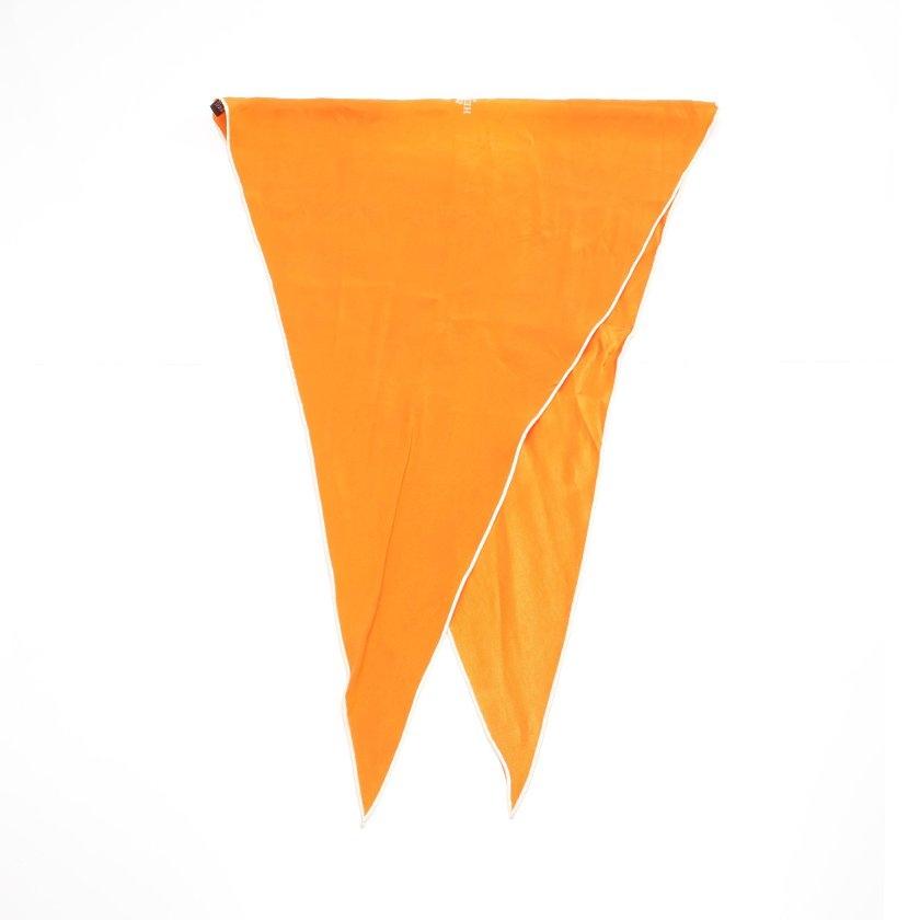 エルメス HERMES スカーフ ロザンジュ オレンジ 小物 シルク ロゴ レディース