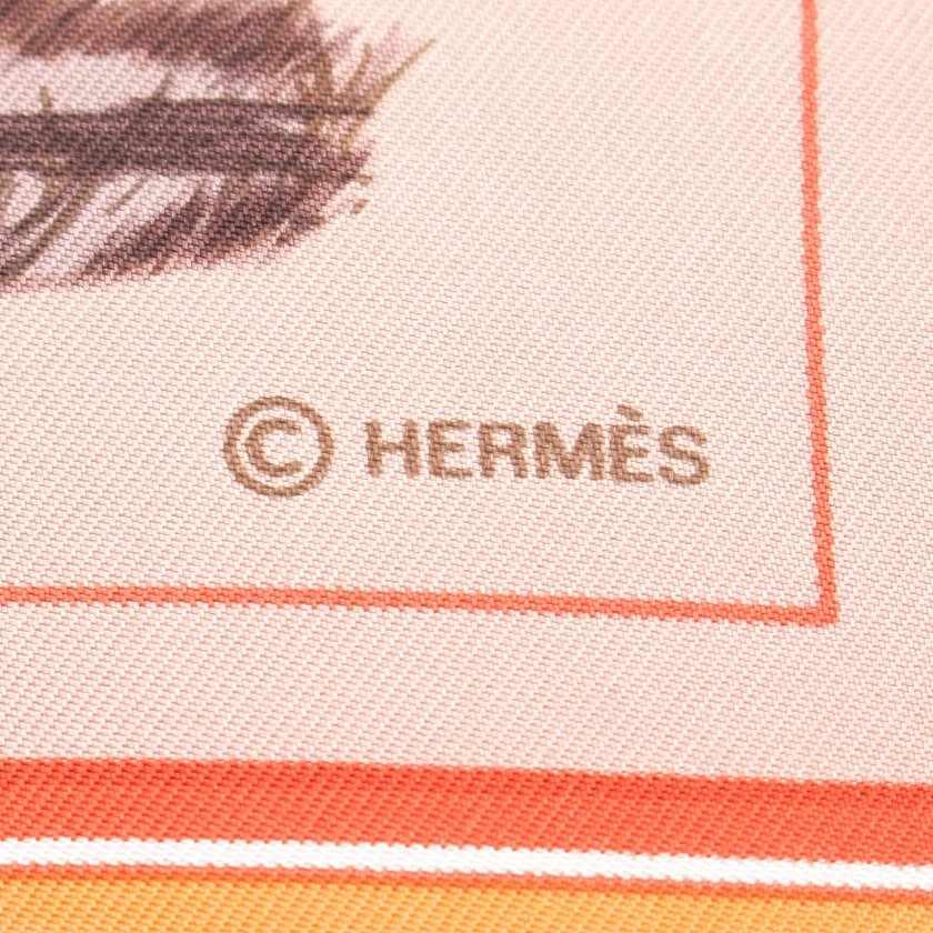 エルメス HERMES スカーフ スクエア カレ90 グレー 小物 シルク Couvertures et Tenues de Jour レディース