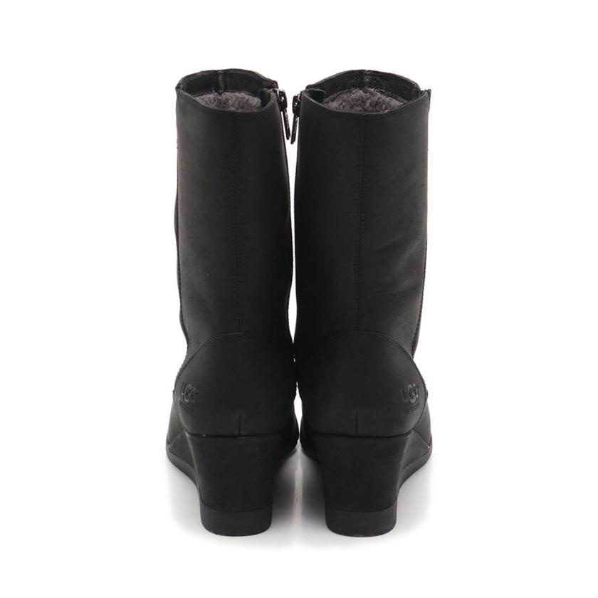 アグ オーストラリア UGG australia ブーツ 黒 US9 シューズ 1012528 レザー ムートン WATERPROOF JOELY レディース