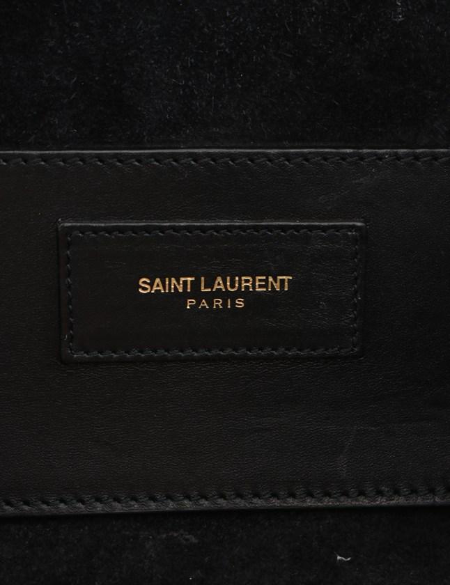 サンローラン パリ SAINT LAURENT PARIS ハンドバッグ ショルダーバッグ ベイビーダッフル 黒 330958 レザー 2WAY レディース