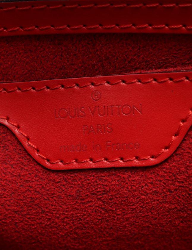 ルイヴィトン LOUIS VUITTON ハンドバッグ サンジャック エピ カスティリアンレッド M52277 レザー レディース