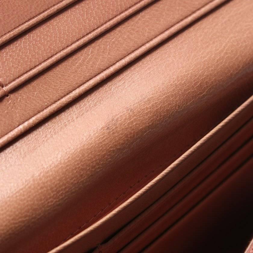 プラダ PRADA 二つ折り長財布 ピンクベージュ 小物 レザー 1M1132 レディース