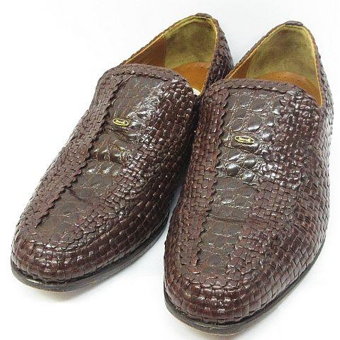 マレリー Marelli ローファー ビジネスシューズ メッシュ 編み込み 靴 ダークブラウン 24.5cm ◇MM,9075 ◇08 メンズ