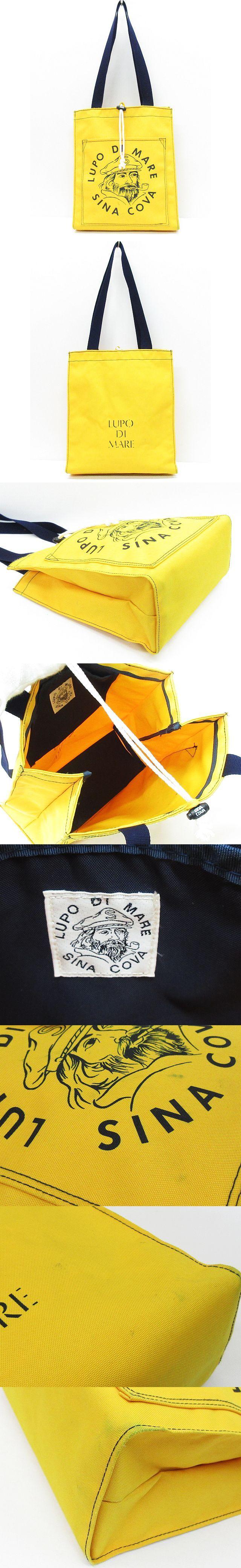 トートバッグ ショルダーバッグ キャンバス ロゴプリント 縦型 肩掛け 鞄 黄 ◇MM-13227 ◇08