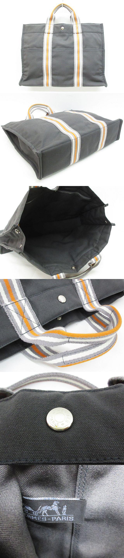フールトゥ MM トートバッグ 銀座限定 キャンバス 鞄 グレー×オレンジ×白 ※MM-13570 ※03