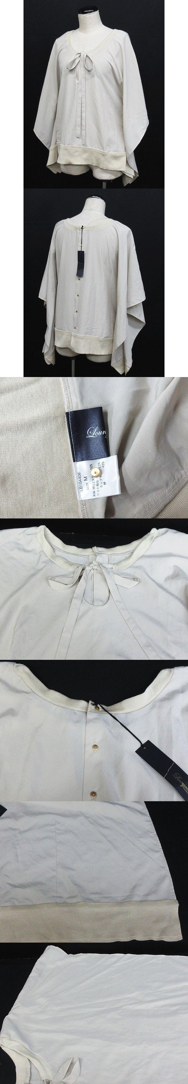 カットソー プルオーバー シフォン リボン ベージュ系 M ※KM-3887 ※01