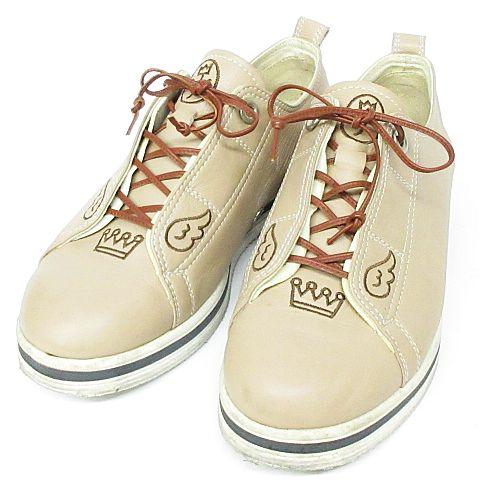 カステルバジャック CASTELBAJAC レザー スニーカー ローカット 靴 ベージュ 24cm ◇MM,14778 ◇07 レディース