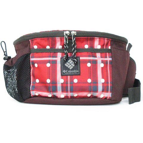 コロンビア Columbia ウエストバッグ ウエストポーチ ボディバッグ チェック ドット アウトドア 鞄 赤×茶 ※MM-16202 ※07 レディース