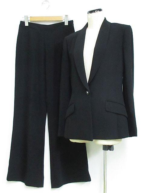 ミス アシダ miss ashida ブラック フォーマル スーツ セットアップ パンツ ショールカラー 黒 7 ◇MM-16685 ◇01 レディース