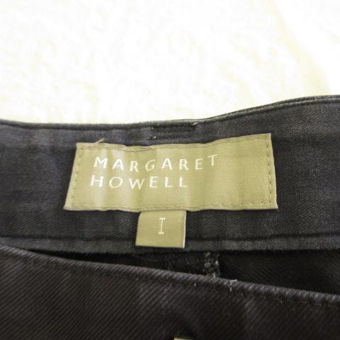 マーガレットハウエル MARGARET HOWELL パンツ ロング ワイド バギー 紺 1 *E140 レディース