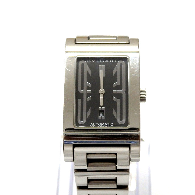 best authentic 53052 d197d ブルガリ BVLGARI レッタンゴロ RT45BSSD 自動巻き 腕時計 ウォッチ ブラック文字盤/シルバー 黒 銀 ジャンク SSAW メンズ