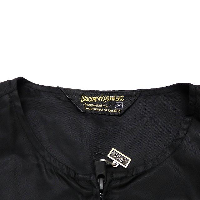 ブルコ BLUCO 21SS クルーネックジャケット ブルゾン 長袖 M ブラック 黒 OL-045-021 メンズ