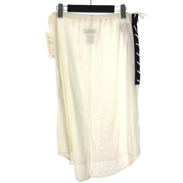 未使用品 ファセッタズム FACETASM LACE UP SKIRT  レースアップスカート ボトムス 4 ホワイト 白 MS-SW-M02 メンズ