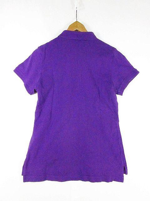 ラルフローレン RALPH LAUREN SPORT ポロシャツ 半袖 ロゴ刺繍 パープル L sa7329 レディース
