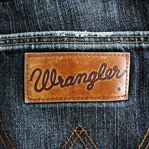 ラングラー WRANGLER W04733 デニム ジーンズ ボトムス ストレート ユーズド加工 31 ブラック ※EKM メンズ