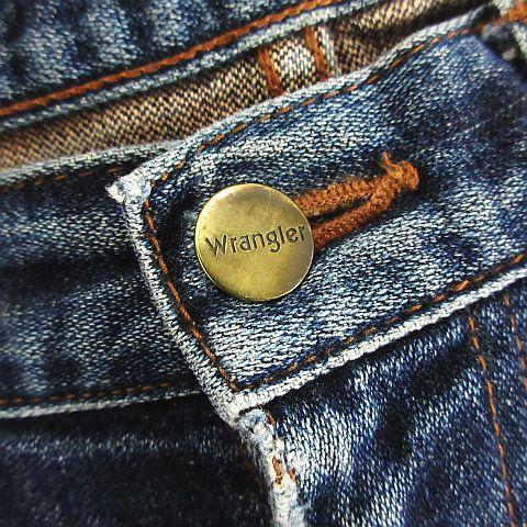 ラングラー WRANGLER デニム ジーンズ ボトムス ブーツカット ユーズド加工 クラッシュ 29 インディゴ ※EKM メンズ