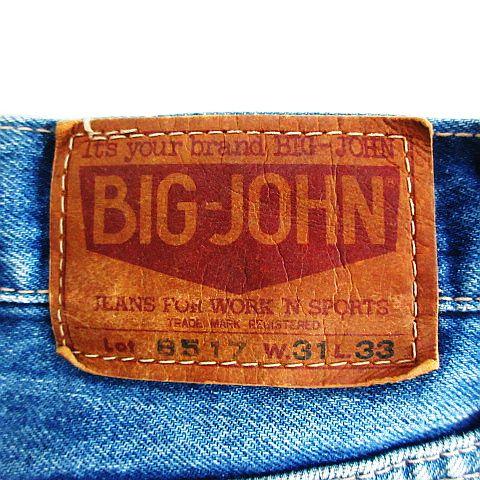 ビッグジョン Big John デニム ジーンズ ボトムス テーパード ユーズド加工 31 インディゴブルー ※EKM メンズ