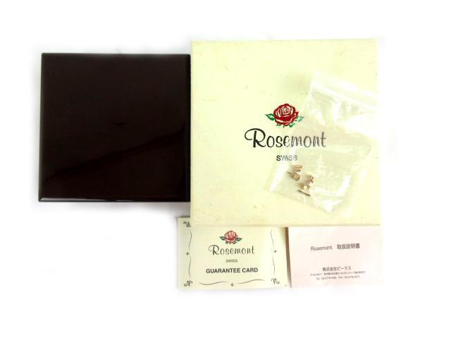 ROSEMONT ロゼモン 腕時計 収納ケース 保管ケース 保存箱 ギャランティカード 木目調 ウッドコーティング 茶 ブラウン 小物