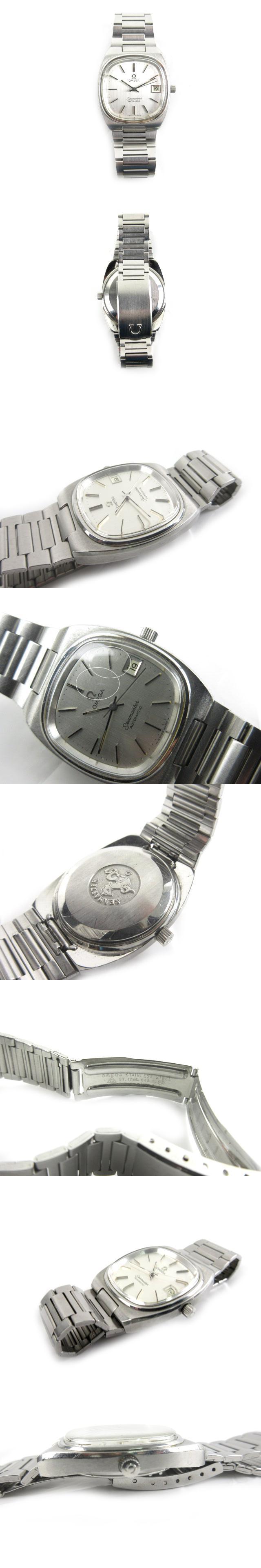 腕時計 ウォッチ 自動巻き SEAMASTER シーマスター デイト シルバー スクエア 33mm アンティーク ビンテージ オールド