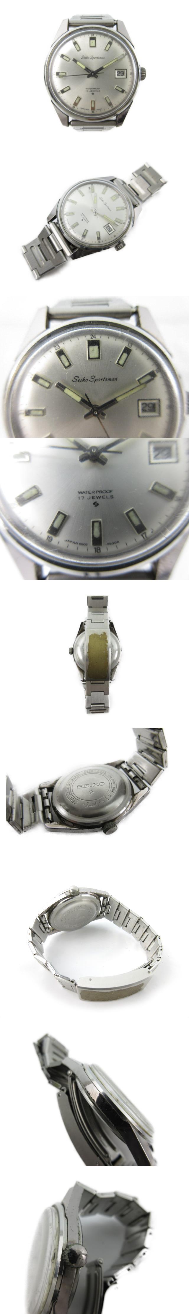 腕時計 ウォッチ Sportsman スポーツマン デイト 手巻き 17石 35mm シルバー アンティーク ビンテージ オールド