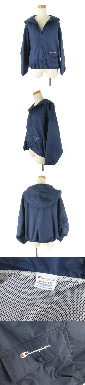 タフタジップジャケット ブルゾン ジップアップ フード ナイロン 紺 ネイビー M CW-P603 19SS 美品 アウター