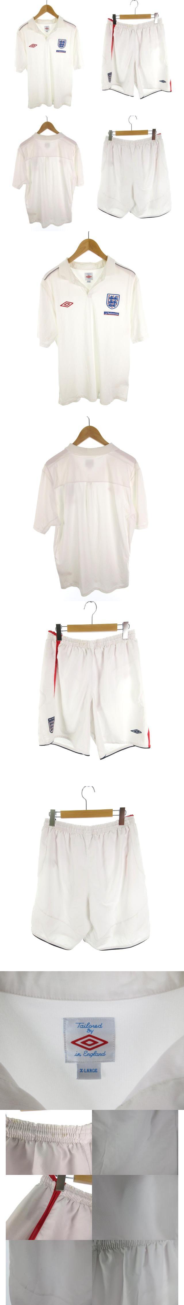 Nationwide 上下 セットアップ 半袖 シャツ Tシャツ ハーフパンツ ショート ショーツ 白 ホワイト XL サッカー ウエア